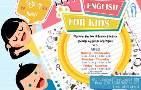 brosur english for children